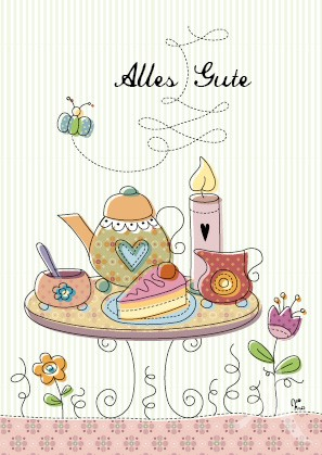 "Postkarte ""Alles Gute (Kaffee & Kuchen)"""
