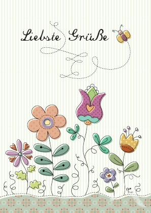 """Postkarte """"Liebste Grüße"""""""
