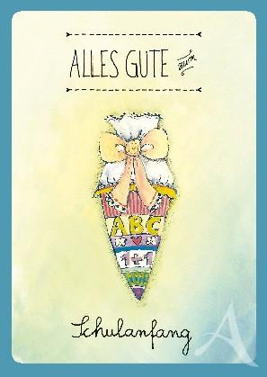 """Postkarte """"Alles Gute zum Schulanfang"""""""
