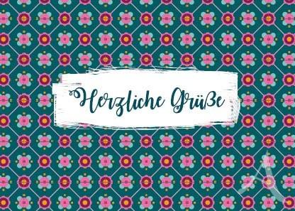 """Postkarte """"Herzliche Grüße"""""""