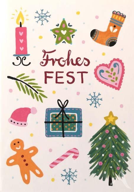 "Postkarte ""Frohes Fest"""