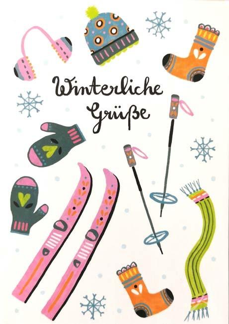 "Postkarte ""Winterliche Grüße"""