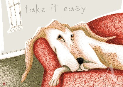 "Postkarte ""Take it easy"""