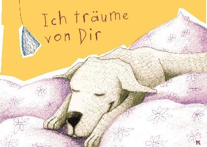 """Postkarte """"Ich träume von Dir"""""""