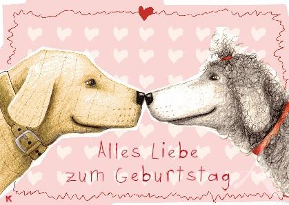 """Postkarte """"Alles Liebe zum Geburtstag"""""""