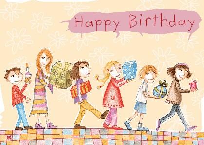 """Postkarte """"Happy Birthday (Kinder)"""""""