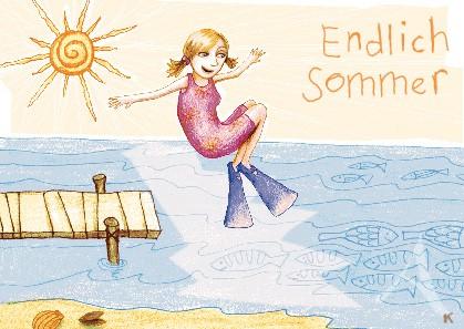 """Postkarte """"Endlich Sommer"""""""