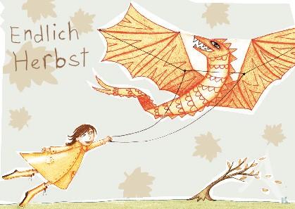 """Postkarte """"Endlich Herbst"""""""
