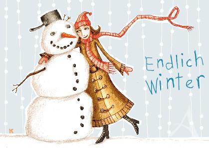 "Postkarte ""Endlich Winter"""