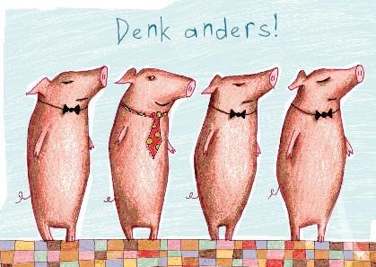 """Postkarte """"Denk anders!"""""""