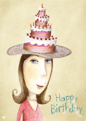 "Postkarte ""Happy Birthday (Torte)"""