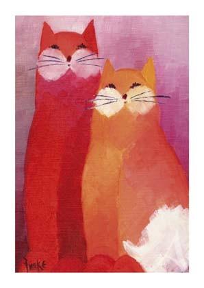 """Postkarte """"Katzen"""""""