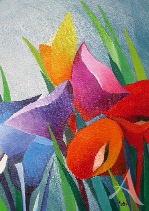 "Postkarte ""Blumengrüße"""