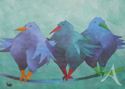 """Postkarte """"Komische Vögel"""""""