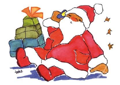 """Postkarte """"Anruf beim Weihnachtsmann"""""""