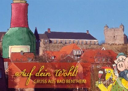 """Postkarte """"Auf dein Wohl!"""""""