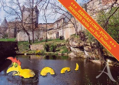 "Postkarte ""Monster-Grüße aus Bad Bentheim"""