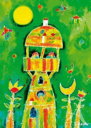 """Postkarte """"Der Vogelbaum"""""""