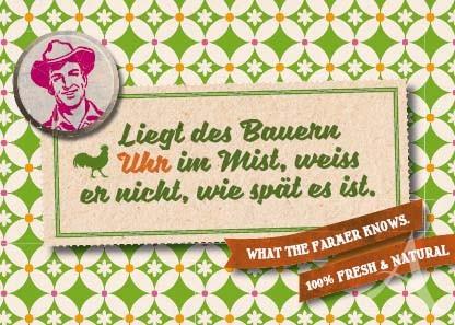 """Farmer-Serie - Postkarte """"Liegt des Bauern Uhr im Mist..."""""""