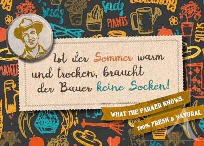 """Farmer-Serie - Postkarte """"Ist der Sommer warm und trocken..."""""""