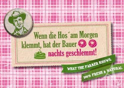 """Farmer-Serie - Postkarte """"Wenn die Hos´ am Morgen klemmt..."""""""