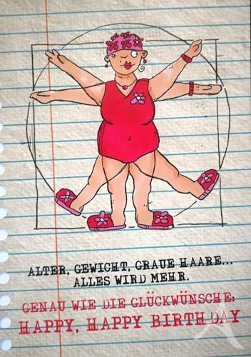 """Postkarte """"Für die FRAU - zum Geburtstag!"""""""