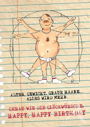 """Postkarte """"Für den MANN - zum Geburtstag!"""""""