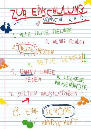 """Postkarte """"Zur Einschulung!"""""""