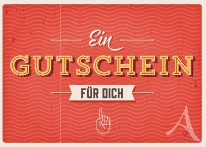 """Postkarte """"Ein Gutschein für Dich"""""""
