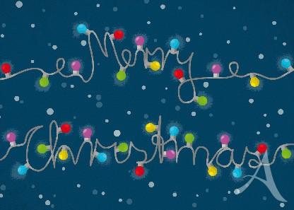 "Postkarte ""Merry Christmas"""