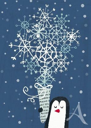 """Postkarte """"Weihnachtsstrauß"""""""
