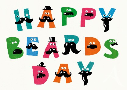 "Postkarte ""Happy Beardsday"""