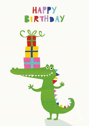 "Postkarte ""Happy Birthday (Krokodil)"""