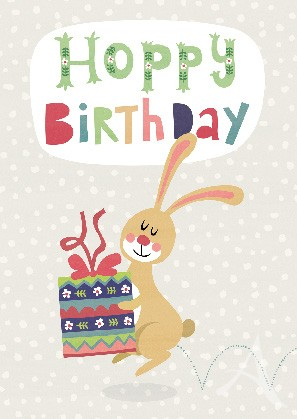 "Postkarte ""Hoppy Birthday"""