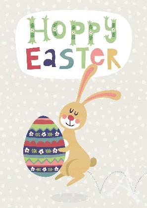 """Postkarte """"Hoppy Easter"""" --- Nur noch wenige Exemplare !"""