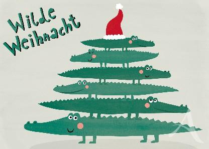 """Postkarte """"Wilde Weihnacht"""""""