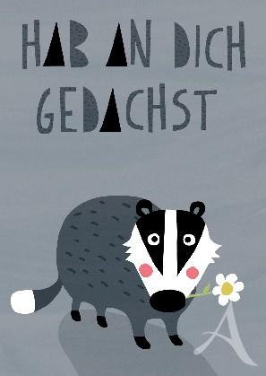 "Postkarte ""Hab an Dich gedachst"""