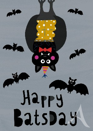 "Postkarte ""Happy BatsDay"""