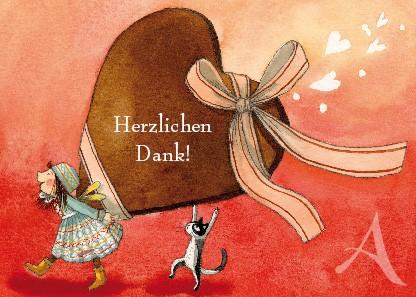 """Postkarte """"Herzlichen Dank!"""""""