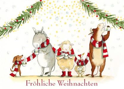 """Postkarte """"Fröhliche Weihnachten"""""""