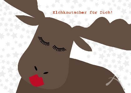 """Postkarte """"Elchknutscher"""" FAST VERGRIFFEN!"""