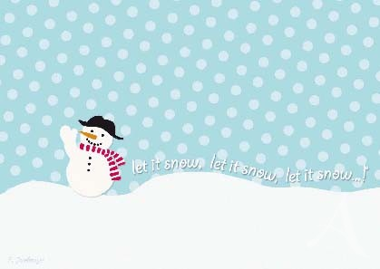 "Postkarte ""Let it snow"""