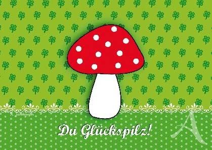 """Postkarte """"Glückspilz"""""""