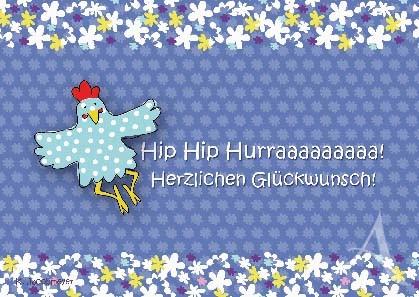"Postkarte ""Hip Hip Hurra"""