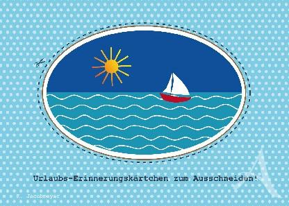 """Postkarte """"Urlaub"""""""