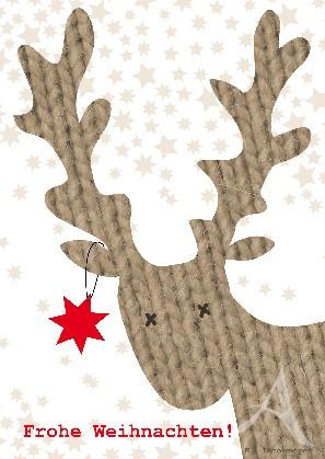 """Postkarte """"Frohe Weihnachten (Elch)"""""""