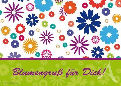 "Postkarte ""Blumengruß für Dich!"""