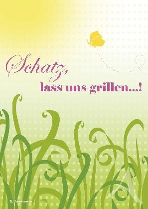 """Postkarte """"Schatz, lass uns grillen!"""""""