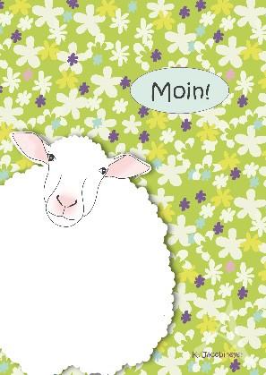 "Postkarte ""Moin (Schaf)"""
