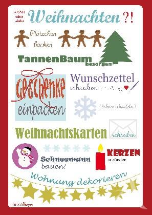 """Postkarte """"Weihnachten (to-do-Liste)"""""""